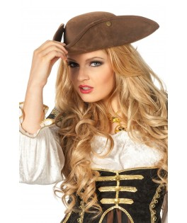 chapeau pirate marron mixte