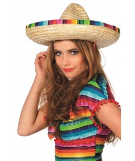 chapeau sombrero rayures multicolores mixte