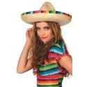 Chapeau Sombrero à rayures multicolores mixte
