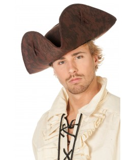 chapeau pirate marron  homme