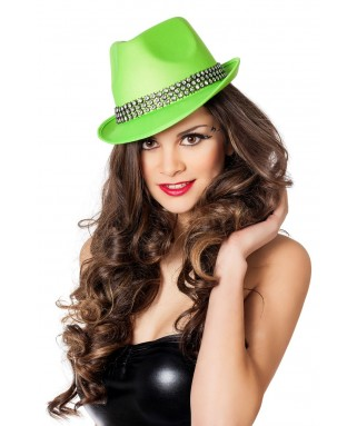 chapeau borsalino fluo vert homme