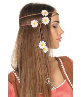 bandeau hippie marguerites blanches