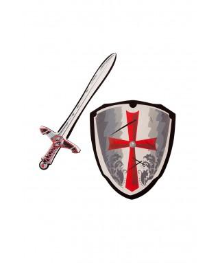 epee et bouclier croix rouge enfant