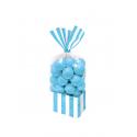 10 Sachets à bonbons - bleu