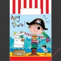 8 Sacs à bonbons papier Pirate