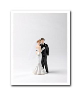 figurine couple de maries en resine