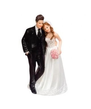 couple jeunes maries en resine