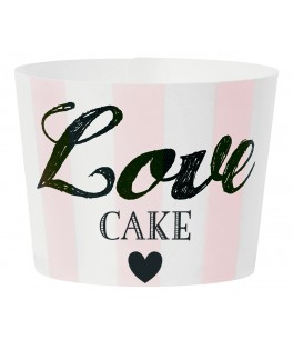 caissettes a cupcake love rayures roses