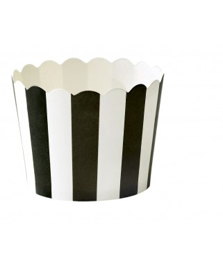 caissettes a cupcake rayures noires