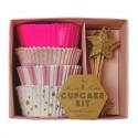 Kit de 48 moules pour cupcakes rose