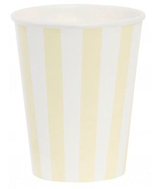gobelets rayures jaune