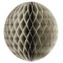 Boule alvéolée gris taupe 45 cm