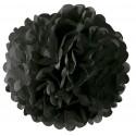Pompom en papier noir 35 cm