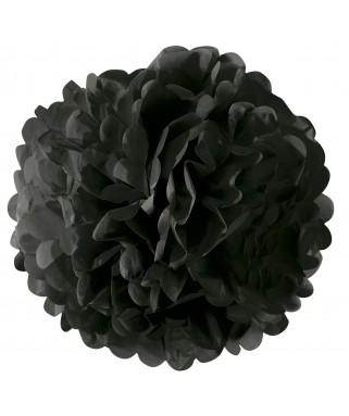 Pompon papier noir - 42 cm