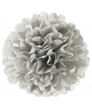 Décoration Pompom grise