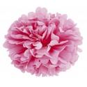 Pompom en papier rose 15 cm