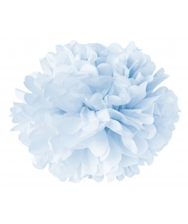 Pompom papier bleu