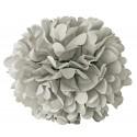 Pompon papier gris - 15 cm