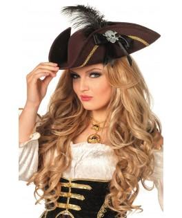 Chapeau Pirate Tricorne femme