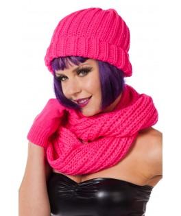 bonnet fluo rose