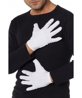 Gants coton blancs