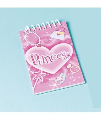 bloc notes anniversaire princesse