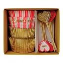 Kit de 48 moules pour cupcakes cœurs