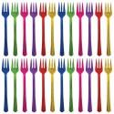20 Fourchettes à cocktail multicolores