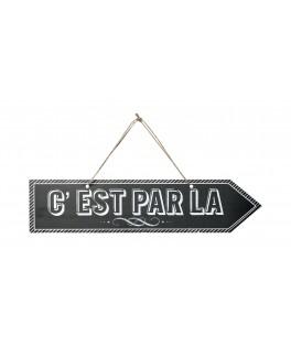 """Flèche signalétique """"C'EST PAR LA"""""""