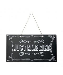 panneau signaletique just married