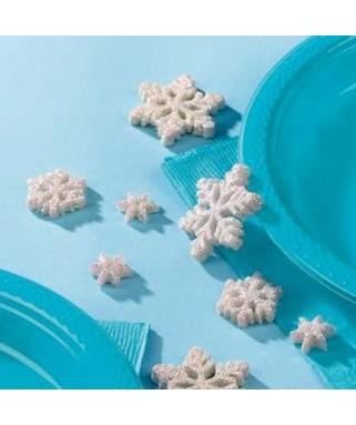 confettis flocons reine des neiges