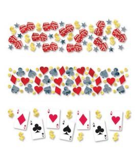 confettis poker carte à jouer