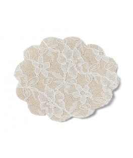napperons dentelle blanc