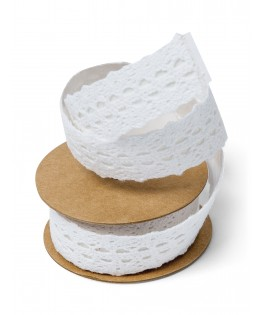 ruban dentelle blanche adhésif
