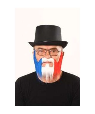 barbe de supporter tricolore france bleu blanc rouge