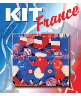 Kit de supporter luxe France Tricolore Bleu/Blanc/Rouge