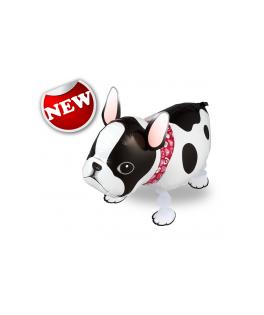 ballon marcheur chien bouledogue