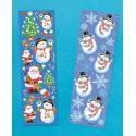 Stickers Père Noël et Bonhomme de Neige