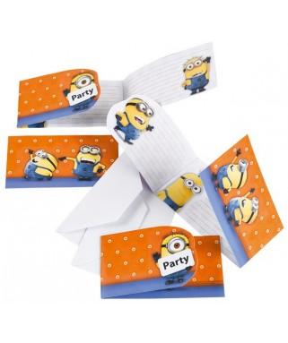 invitation anniversaire Les Minions