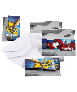 invitations anniversaire Transformers