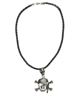 Collier métal pirate