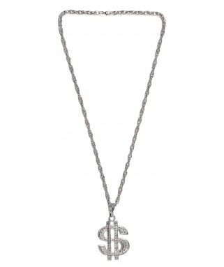 Collier dollars argent adulte