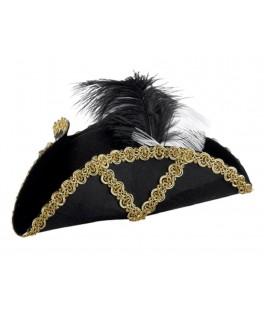 Chapeau Pirate tricorne à plumes  Adulte