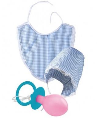 Set déguisement bébé bonnet, bavette, tétine