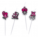 Bougies Pirate rose  x4