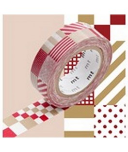 scrapbooking masking tape carré rouge noel