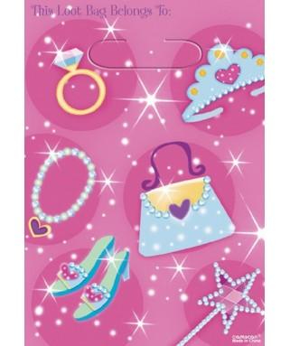 sacs cadeaux princesse rose