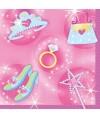 serviettes en papier anniversaire princesse