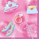 16 Serviettes Princesse - 25 cm