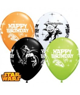 Ballons Star Wars Happy Birthday Assortiment multicolore  x25